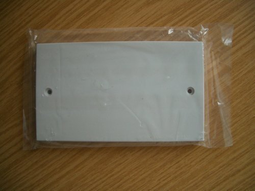 Double Gang (2G) Electrical White Socket Blanking Plate Home fusion