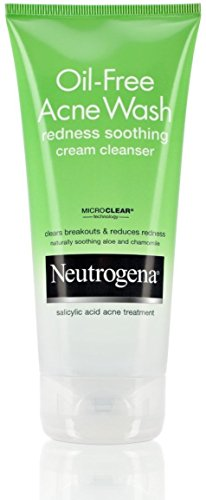 Neutrogena Oil-Free Acne Wash Redness Soothing Cream Cleanse