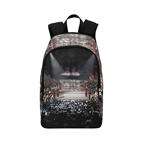 Bloody Boxing Ring Casual Daypack Travel Bag College School Backpack for Mens and Women