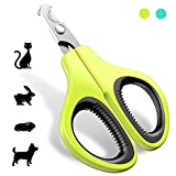 JOFUYU Updated 2020 Version Cat Nail Clippers and Trimmer - Professional Pet Nail Clippers and Claw Trimmer - Best Cat Claw Clippers for Rabbit Puppy Kitten Kitty Guinea Pig Small Dog - Sharp - Safe