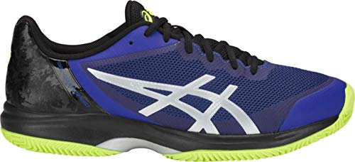 (ASICS Gel-Court Speed Clay Men's Tennis Shoe, Illusion Blue/Silver, 8 D US)
