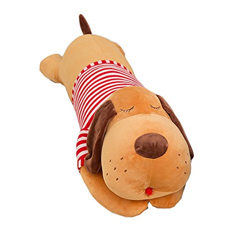 Cute Stuffed Dog Animal Toy Plush Dog Pillow 35inch (Brown)