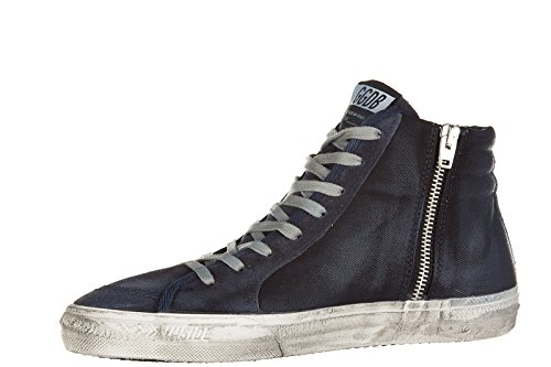 Golden Goose chaussures baskets sneakers hautes homme slide blu