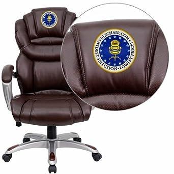 Amazon.com: Flash Furniture bordado Silla de oficina go-901 ...