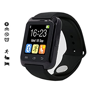 [Version Améliorée Montre Connectée] MallTEK Smartwatch Android Bluetooth 3.0 Smart Montre Connectée Smart Bracelet Bande avec ...