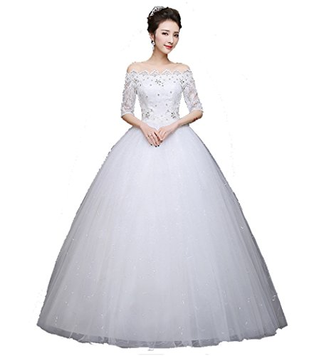 DS long shoulder Slim thin wedding dress l