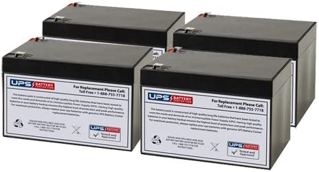 E BP2 12V 12Ah SLA Replacement Battery Set for Minuteman EBP2