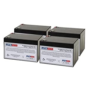 12V 12Ah F2 - Compatible Replacement Battery Set for Eaton Powerware PW5125-2200 UPS