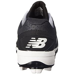 New Balance Men's PL4040V3 TPU Baseball Shoe, Black/White, 15 D US