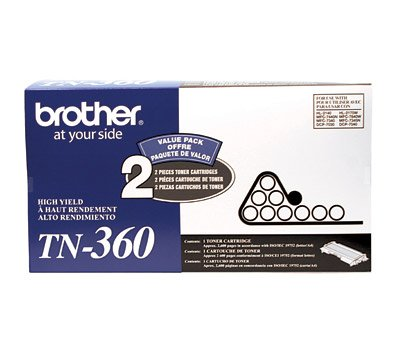 Brother TN360 2 Pack High Yield Toner Cartridges