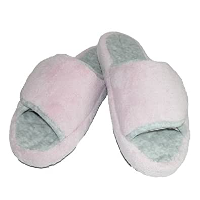 Isotoner Pillowstep Micro Terry SPA Slide Women's Slippers by Totes (Pink 8.5-9)
