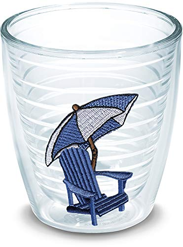 Adirondack Chair Tumbler - Tervis 1000103 Adirondack Chair - Blue Tumbler with Emblem 12oz, Clear