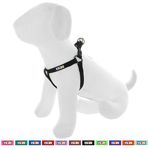 Pawtitas Solid Color Step in Dog Harness or Vest Harness Dog Training Walking of Your Puppy Harness Small Dog Harness Black Dog Harness