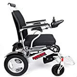 Porto Mobility Ranger D09, No.1 Best Rated Exclusive Portable Power Wheelchair, Lightweight, Foldable, Heavy Duty, Dual Battery, Dual Motor Electric Wheelchair - 18.5'' Seat Width (Free Travel Case)