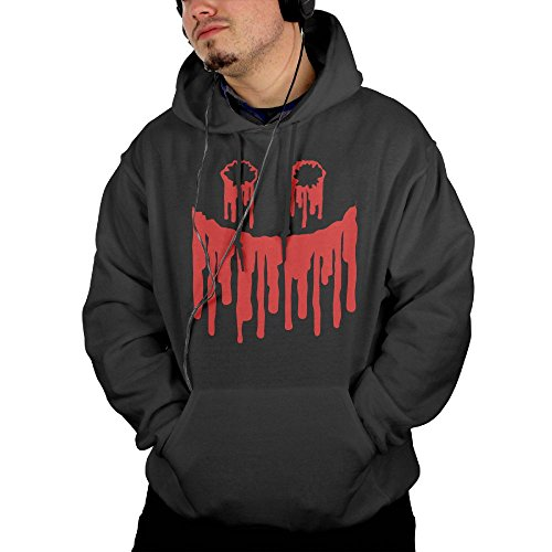 SUN CONURE Imported Pure Cotton Hooded Top Pattern Hoodie Blood Face (Deviled Eggs Recipes For Halloween)