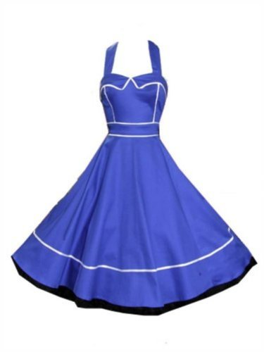 Pretty Kitty Fashion 50s Blau Kleid