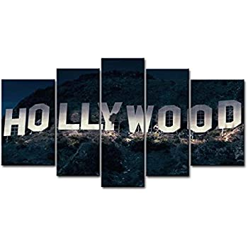 Amazon So Crazy Art 40 Piece Wall Art Painting Hollywood Sign In Simple Hollywood Sign Decoration