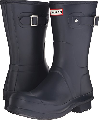Hunter Mens Original Short Rain Boots Navy 8 M by Hunter