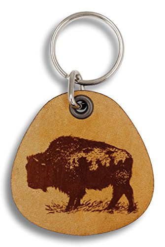 - ForLeatherMore - Buffalo - Genuine Leather Keychain - Wildlife keychains
