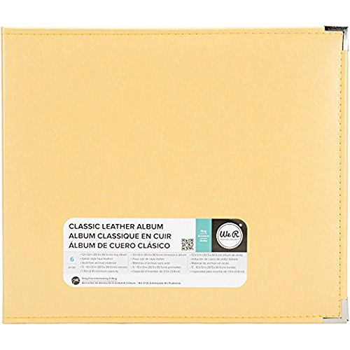 Leather 3 Ring Scrapbook Album (We R Memory Keepers 660911 Classic Leather D-Ring Album 12