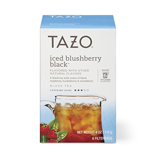 - Tazo Filter Bag Tea, Iced Blushberry Black, 6 ct, Pack of 4