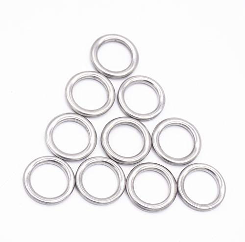 Transmission Drain Plug Gasket Engine Oil Drail Plug Crush Washer Seal Rings for Toyota 4Runner Lexus, Replacement # 35178-30010 3517830010, M12, Pack of 10