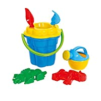 Wader Flower Pail/ Sieve/ Spade/ Rake/ Sand Moulds And Watering Can For Children (Large)