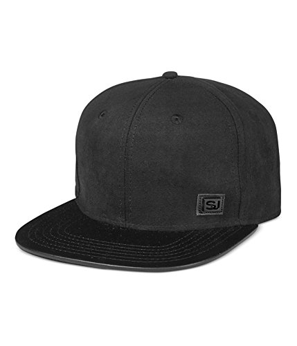 Sean John Mens Faux-Suede Baseball Cap black One Size
