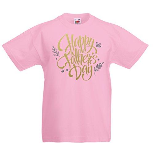 Camisas para niños Feliz día de los Padres - Mejor Regalo de la Esposa, Hijo o Hija (5-6 Years Rosado Multicolor)