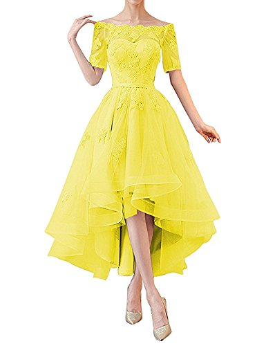 Damen Leader Linie the Gelb A of Beauty Kleid qvUwvW8trT