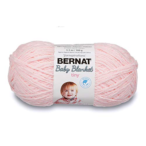 Bernat Baby Blanket Tiny Yarn, 3.5 oz, Gauge 4 Medium, Hush Pink