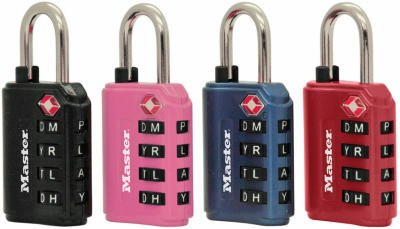 Master Lock 4691DWD TSA Word Luggage Lock with 4 Letter Dial, 1.375-In. - Quantity (Master Combination Alpha Padlock)