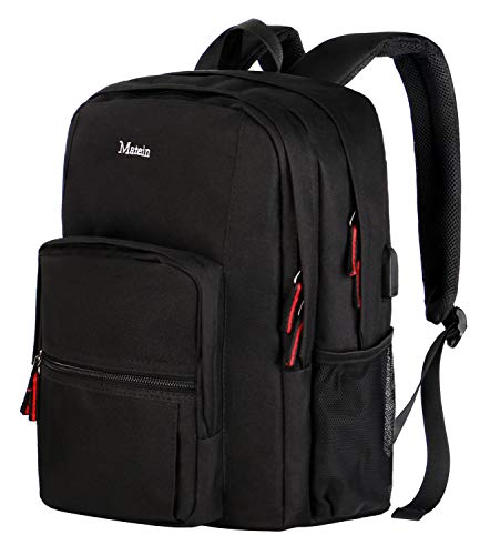 College Backpack,High School Bookbag with USB Charging Port,