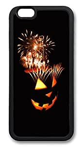 iPhone 6 Cases, Pumpkin Halloween Fireworks Durable Soft Slim TPU Case Cover for iPhone 6 4.7 inch Screen (Does NOT fit iPhone 5 5S 5C 4 4s or iPhone 6 Plus 5.5 inch screen) - TPU Black