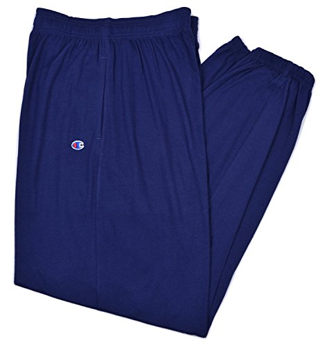 Champion Men's Big-Tall Closed Bottom Jersey Pant (4X Tall, Midnight Navy)