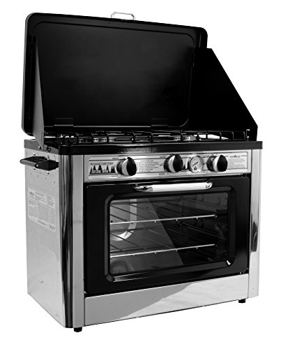 Camp Chef Camping Outdoor Oven with 2 Burner Camping Stove - Propane Camping Oven