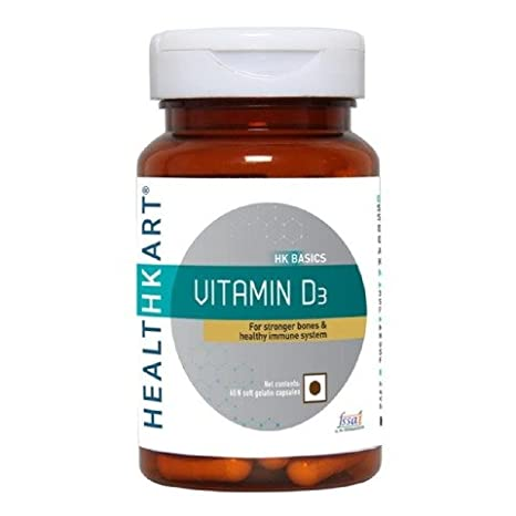 Buy HealthKart Vitamin D3 (For sronger bones), 60 capsules Online
