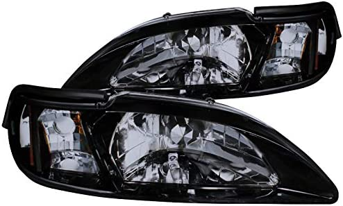 amazon com glossy black 1994 1998 ford mustang smoke headlight corner lamps 94 95 96 97 98 automotive glossy black 1994 1998 ford mustang smoke headlight corner lamps 94 95 96 97 98