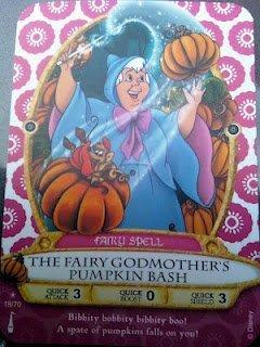 Sorcerers Mask of the Magic Kingdom Game, Walt Disney World - Card #18 - The Fairy Godmother's Pumpkin Bash ()