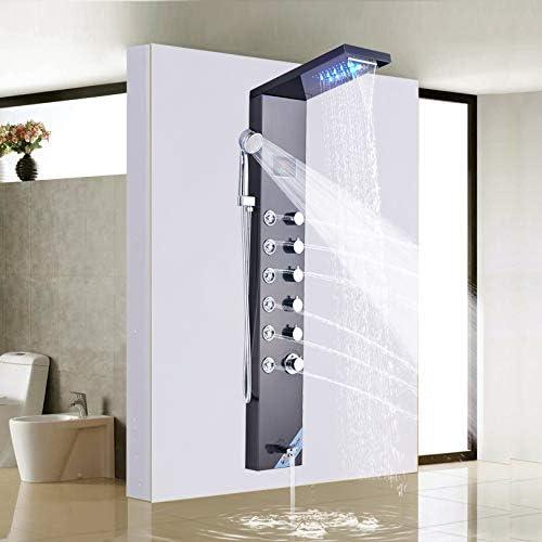 Temperatura Pantalla de Ducha Digital Columna Torre Sistema de ...