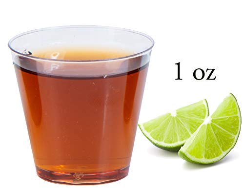 1 oz Crystal Clear Shot Cups (100 -