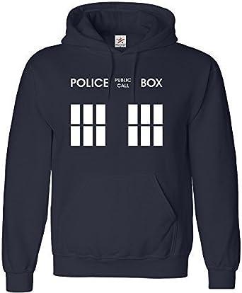 Estrella y rayas - Doctor phone box kids sudadera con capucha de ...
