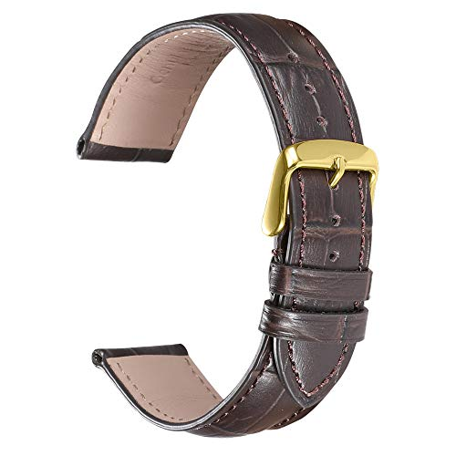 iStrap Leather Watch Band Strap 12/14/16/18/19/20/21/22/24mm Alligator Embossed Leather Replacement Strap Bracelet Gold Rose Gold Silver Buckle