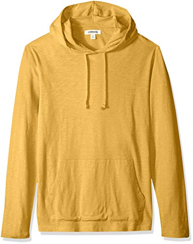 Goodthreads Men's Lightweight Slub T-Shirt Hoodie, gold, XX-Large Tall