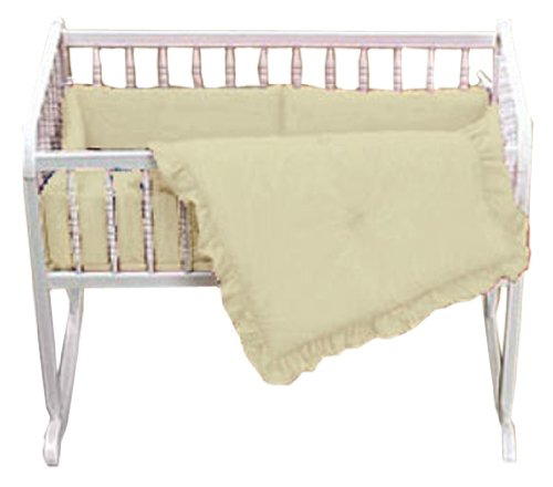 Baby Doll Bedding Solid Mini Crib/ Port-a-Crib Set, Ecru by BabyDoll Bedding   B00342UGZ0