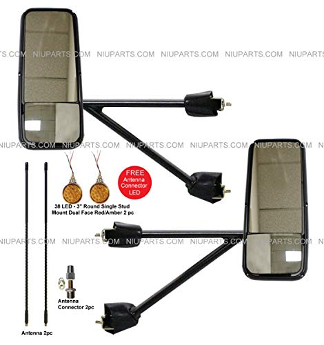 Door Mirror Power Heated Black with Arm - Driver and for sale  Delivered anywhere in USA
