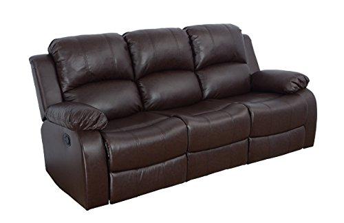 Lifestyle Furniture Odessa Reclining Sofa, Dark Brown