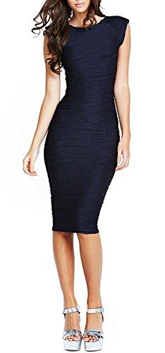 Yincro Women's Sleeveless Knee Length Pencil Dresses (Royal Blue-L) (Cocktail Sleeveless Length Knee)