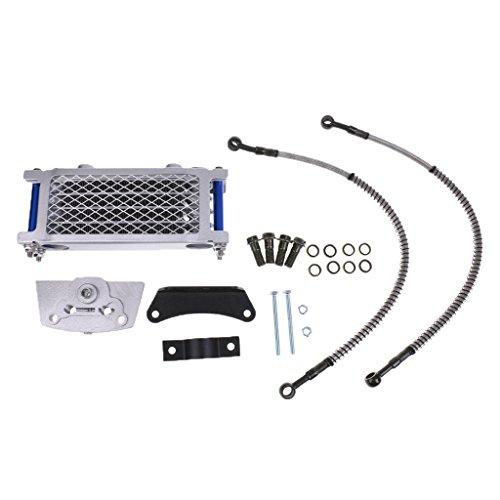 Motorcycle System Cooling (MonkeyJack Sliver Oil Engine Cooler Kit Cooling System Radiator For 125 140cc Motorcycle Pit Bike)