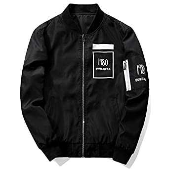 Amazon.com: 2017 New Men Bomber Jacket Hip Hop Casual Patch ...